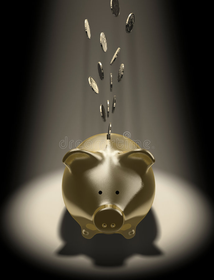 Download Piggy-bank stock illustration. Image of euro, piggy, icon - 2318199