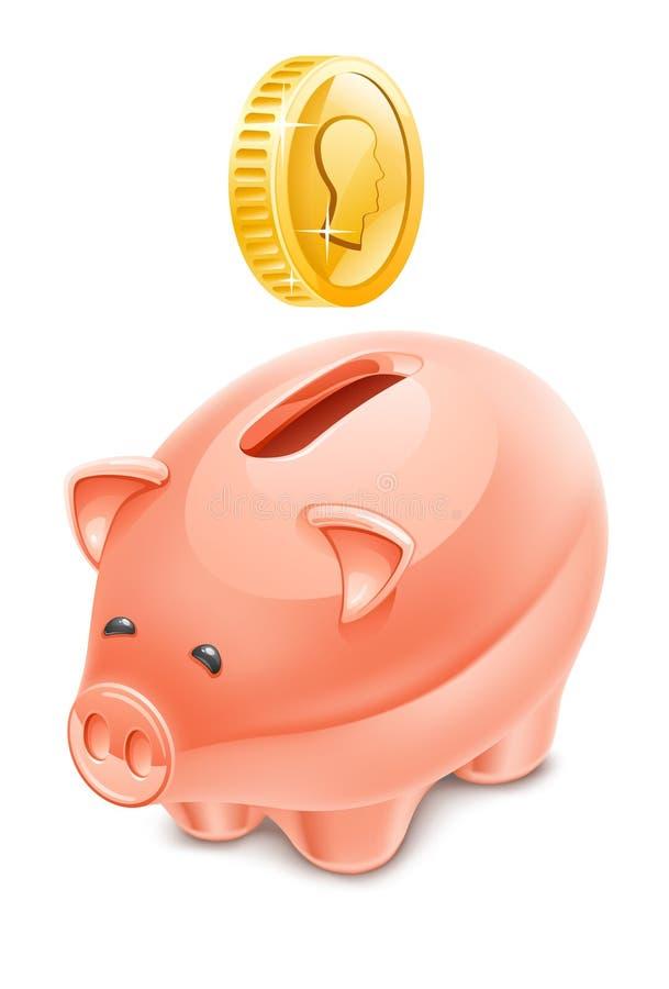 Download Piggy bank stock vector. Illustration of money, dimensional - 23524069
