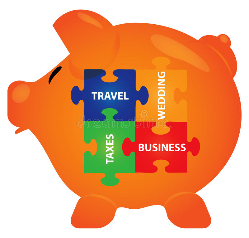 Download Piggy bank stock vector. Image of loan, cute, piggy, business - 25621095