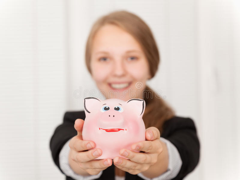 Download Piggy Bank stock photo. Image of bank, hand, cash, penny - 26536094