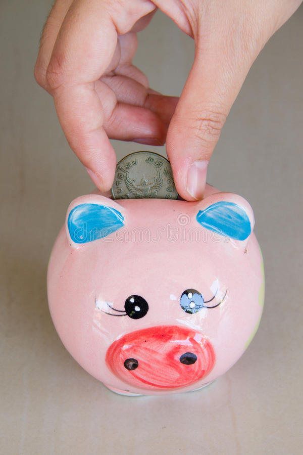 Download Piggy bank stock image. Image of account, holding, loan - 28334865