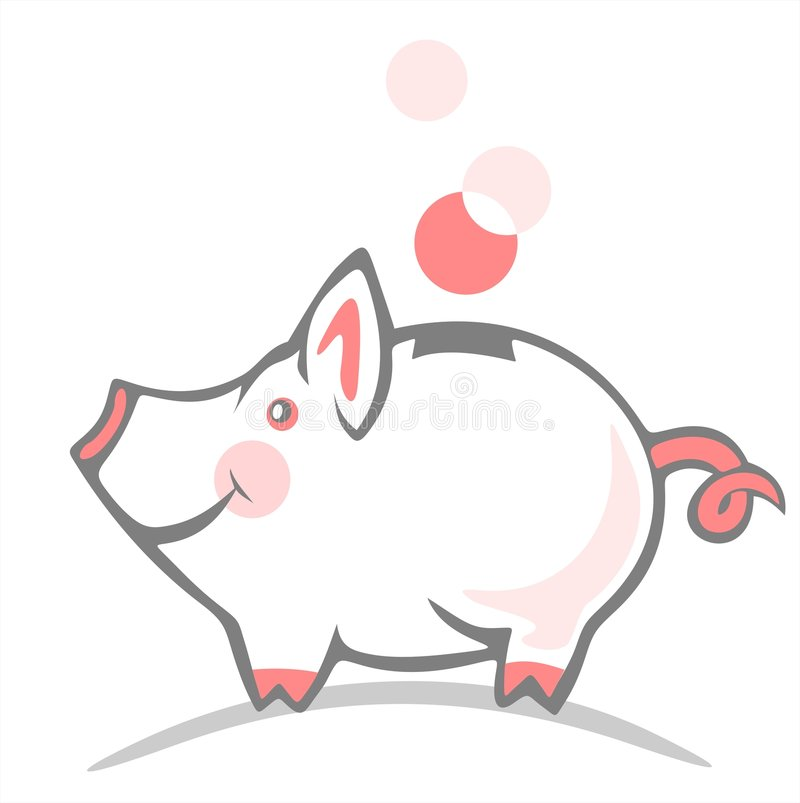 Download Piggy bank stock vector. Image of investment, bank, money - 3710263