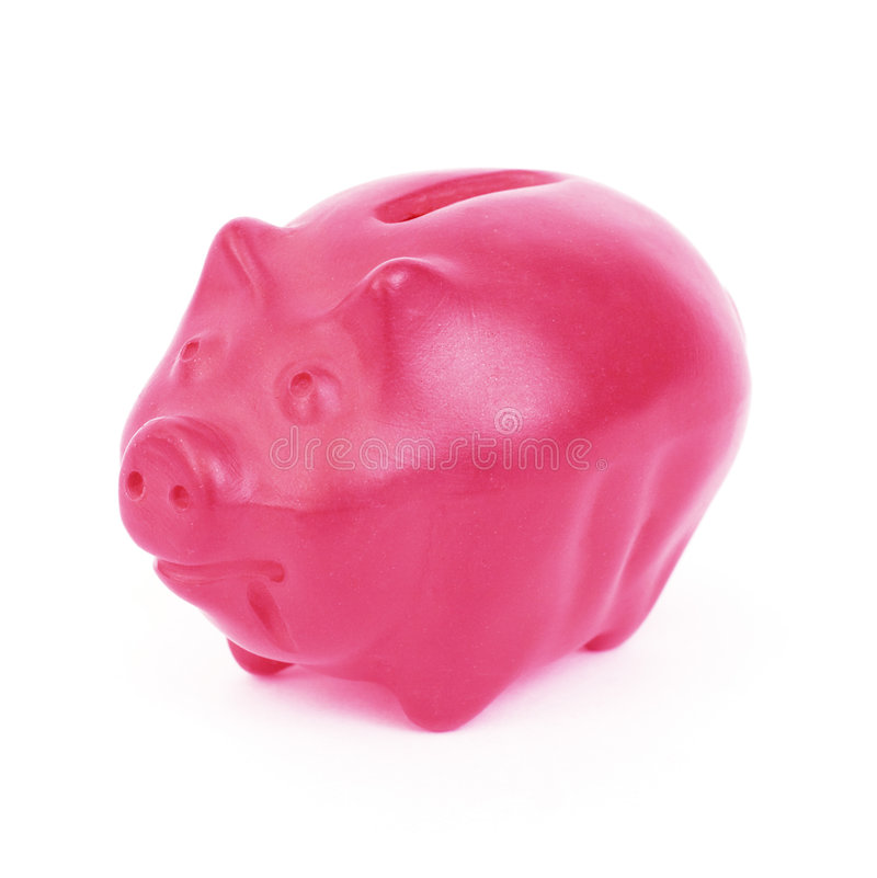 Piggy bank. A ceramic piggy bank royalty free stock images