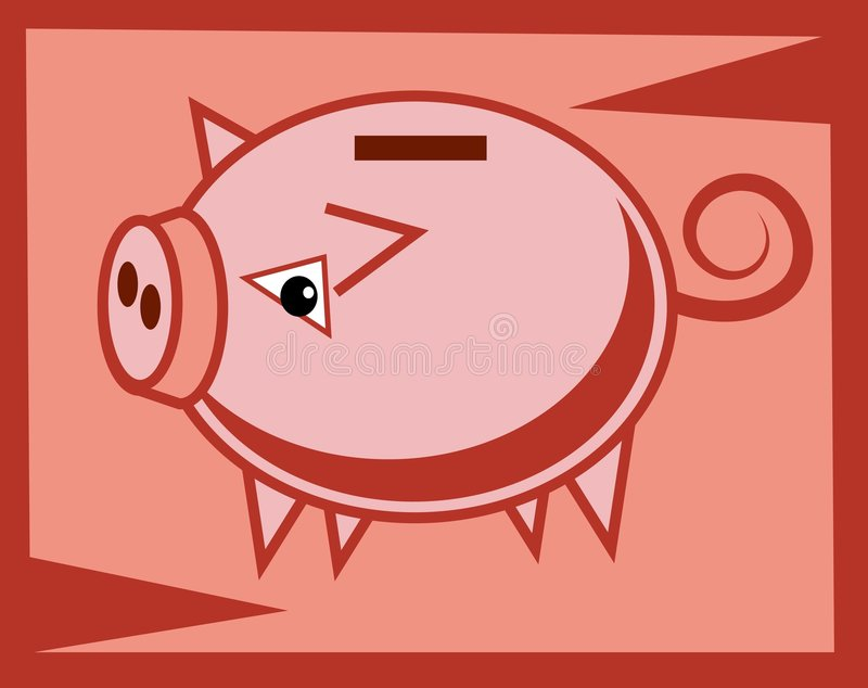 Piggy Bank vector illustration