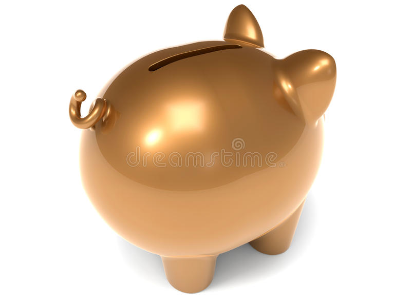 Piggy bank - back view royalty free illustration