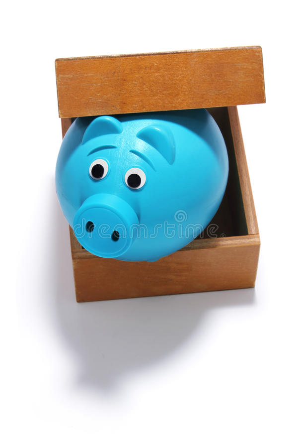 Download Piggy Bank in Box stock image. Image of shot, white, life - 32008875