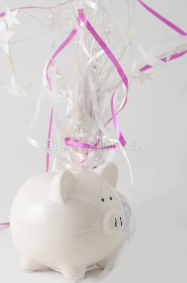 Piggy Bank Celebration royalty free stock photos