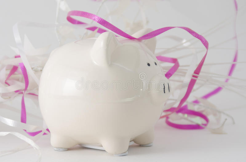 Piggy Bank Celebration stock photography