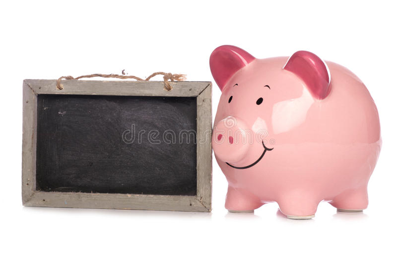 Download Piggy Bank With Chalkboard Stock Photo - Image: 16491230