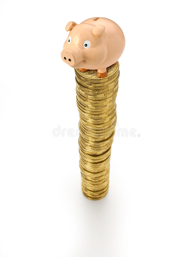 Download Piggy Bank Coins Stack Money Stock Image - Image: 8087699