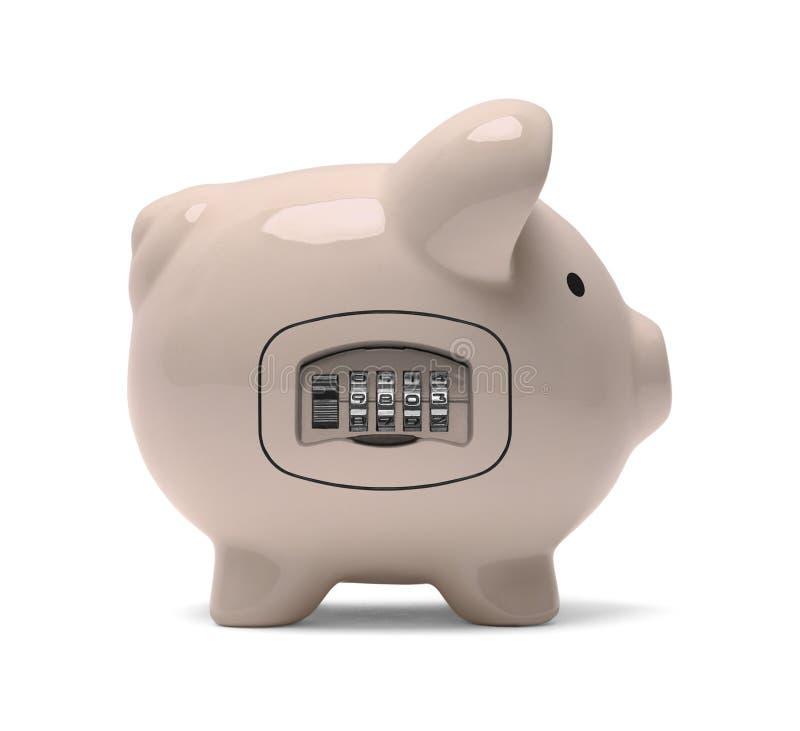 Piggy Bank Combination Lock royalty free stock photo