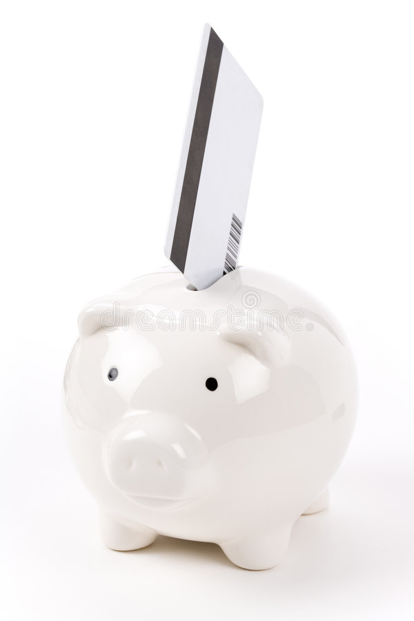 Download Piggy Bank and Credit Card stock photo. Image of bank - 5587708