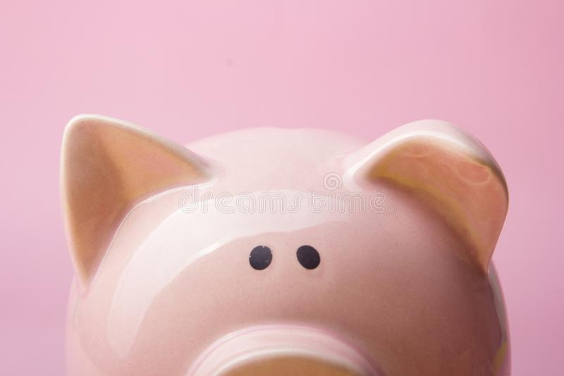 Piggy bank and dollar cash money. Business, finance, investment, saving and corruption concept. Piggy bank and dollar cash money. Business, finance, investment royalty free stock images