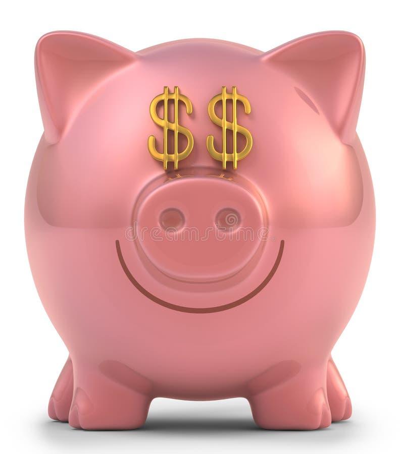 Piggy Bank Dollar stock illustration