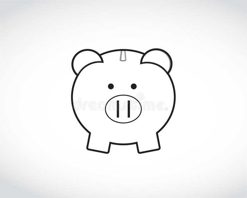 Piggy Bank drawing. Illustration royalty free illustration
