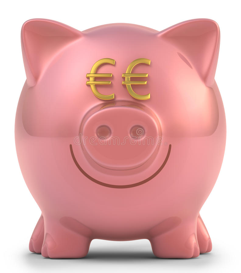 Download Piggy Bank Euro stock illustration. Illustration of wealthy - 34927692