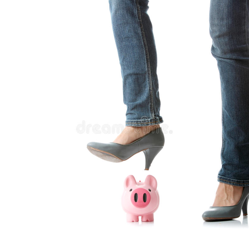 Piggy bank execution royalty free stock photos
