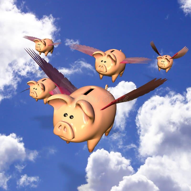 Piggy Bank Exodus royalty free illustration
