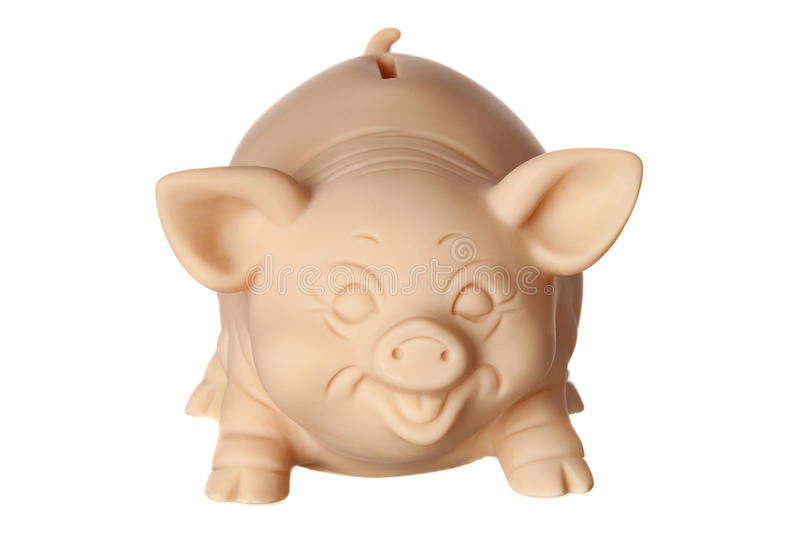 Piggy Bank In Front Stock Photos