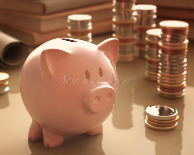 Download Piggy Bank stock illustration. Image of money, rise, currency - 41367860