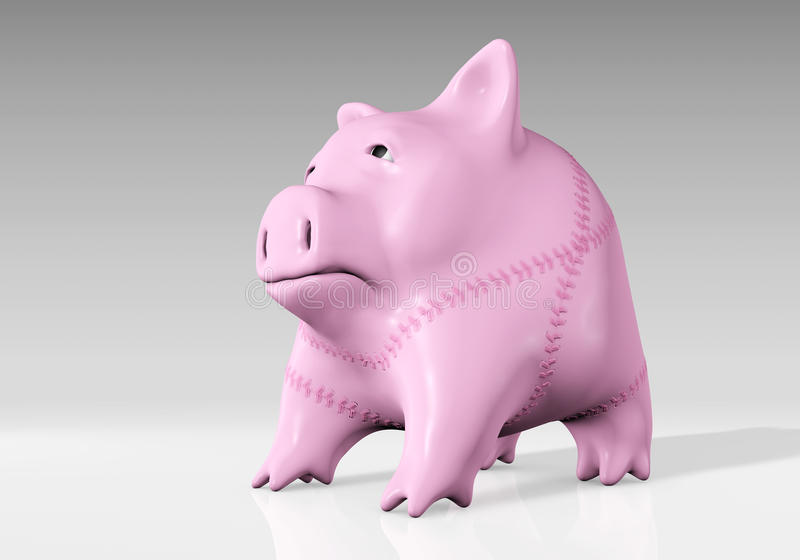 Download Piggy bank has been mended stock illustration. Illustration of financial - 28637947