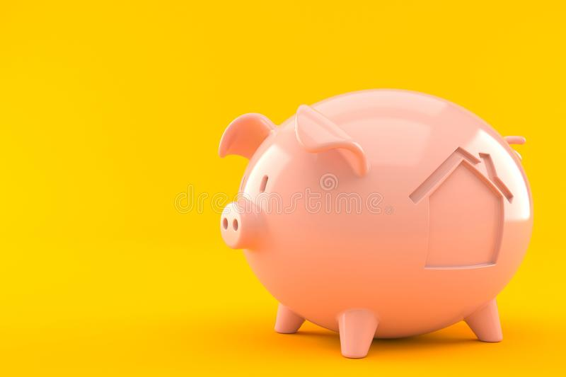 Piggy bank with house icon vector illustration