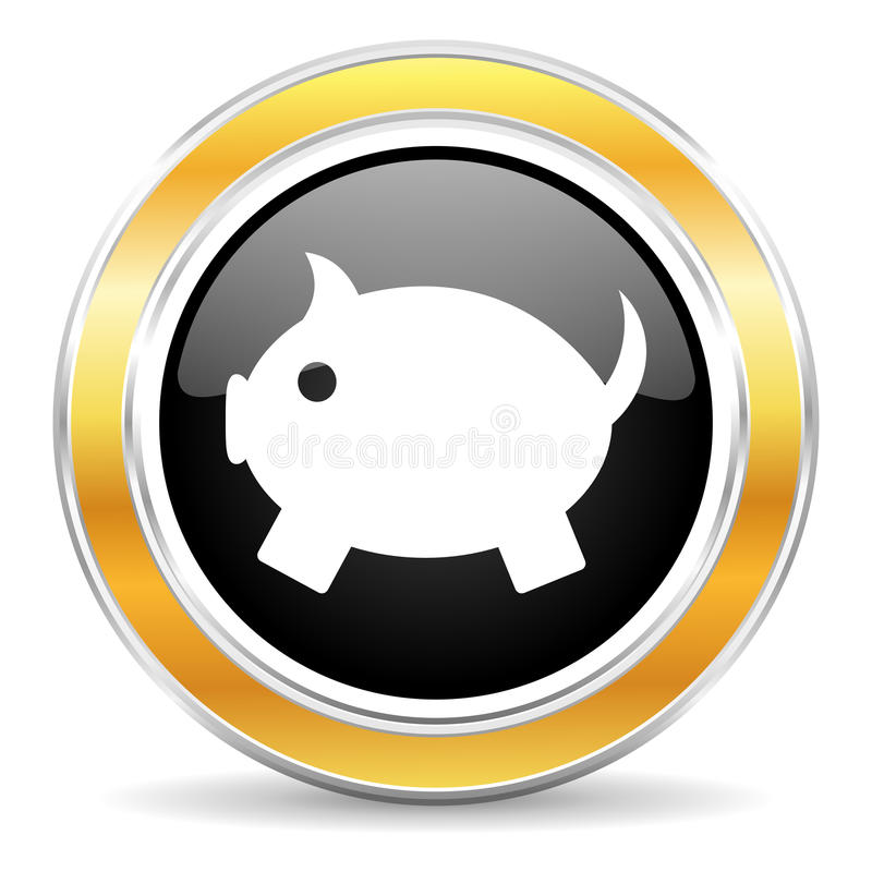 piggy bank icon royalty free stock image