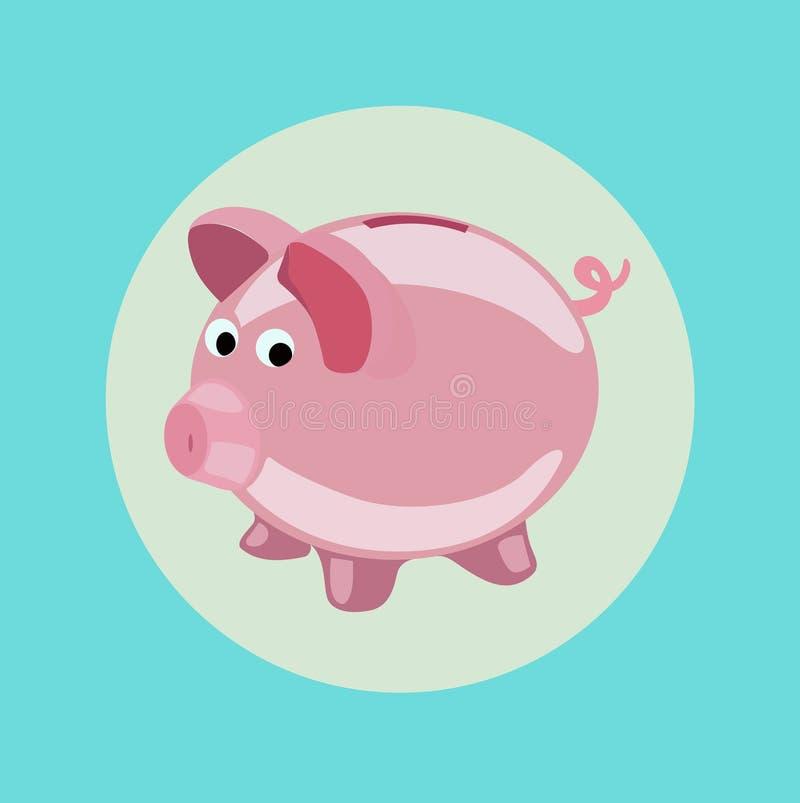 Piggy bank icon vector flat design vector illustration
