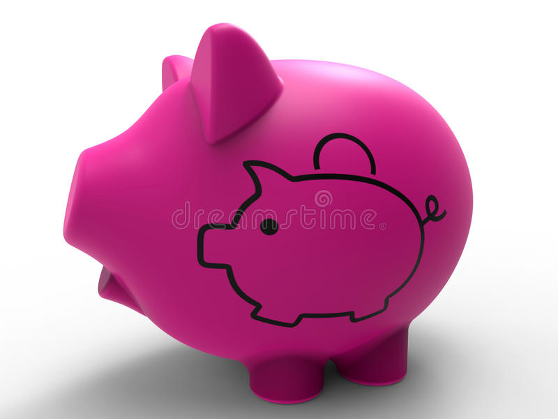 Piggy bank illustration royalty free illustration