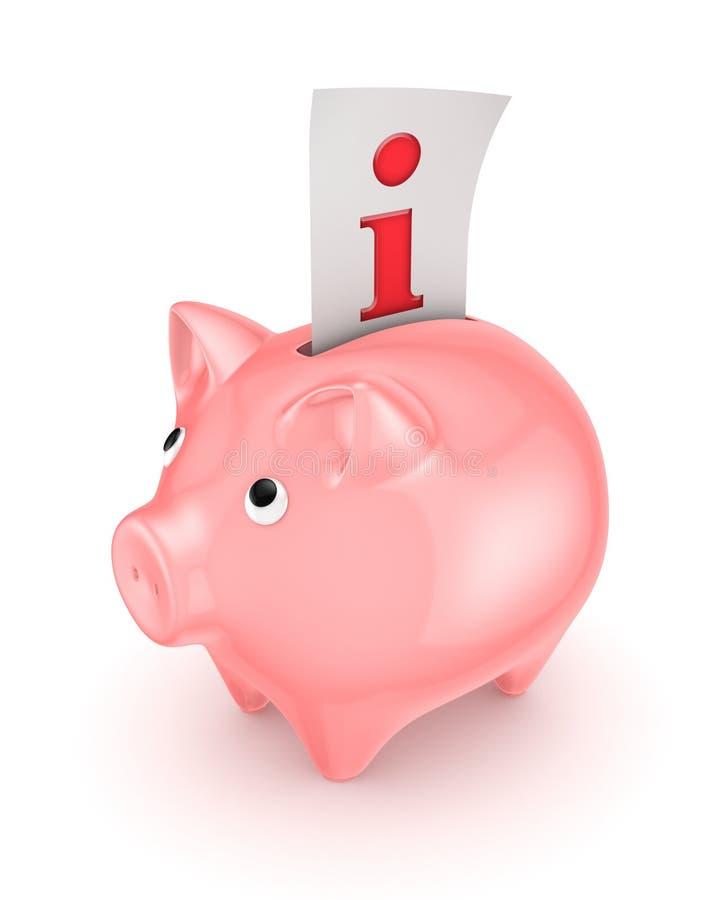 Piggy Bank And Info Symbol. Stock Image