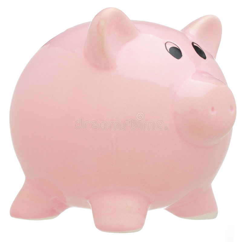 Download Piggy Bank Isolated On White Stock Photo - Image: 7536356