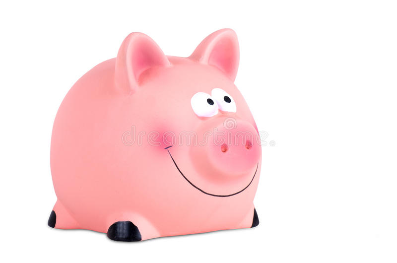 Piggy Bank isolated on white royalty free stock images
