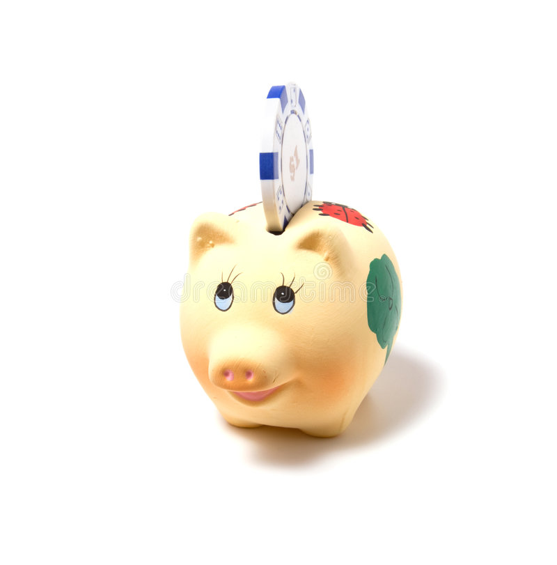 Download Piggy Bank Isolated On White Background Stock Photo - Image: 7104026