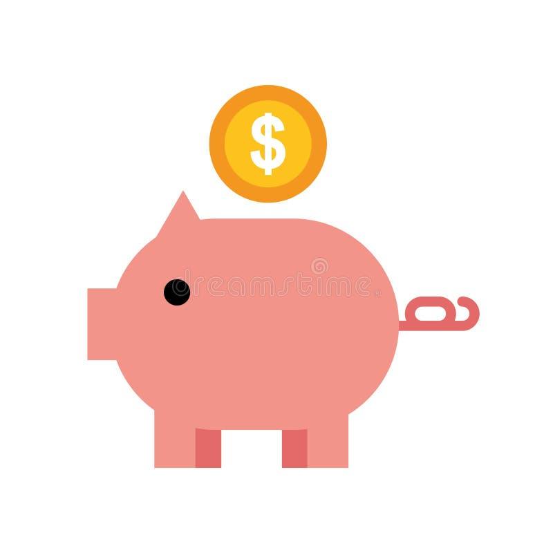 Piggy bank money coin dollar royalty free illustration