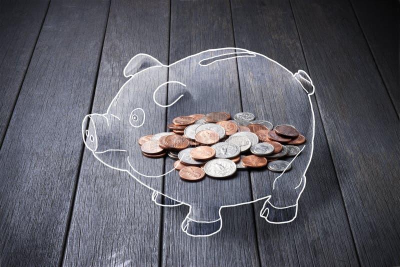 Download Piggy Bank Money Coins stock illustration. Image of fake - 41291824