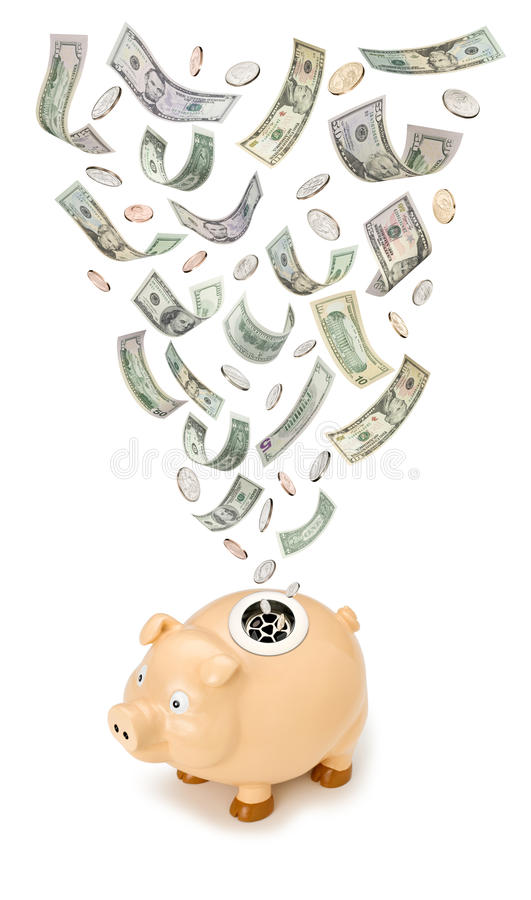 Piggy Bank Money Waste Royalty Free Stock Images