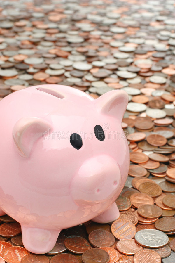 Download Piggy Bank Over Money Business & Finance Concept Stock Photo - Image: 7449980