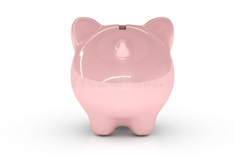 Download Piggy Bank Over White Royalty Free Stock Image - Image: 10906196