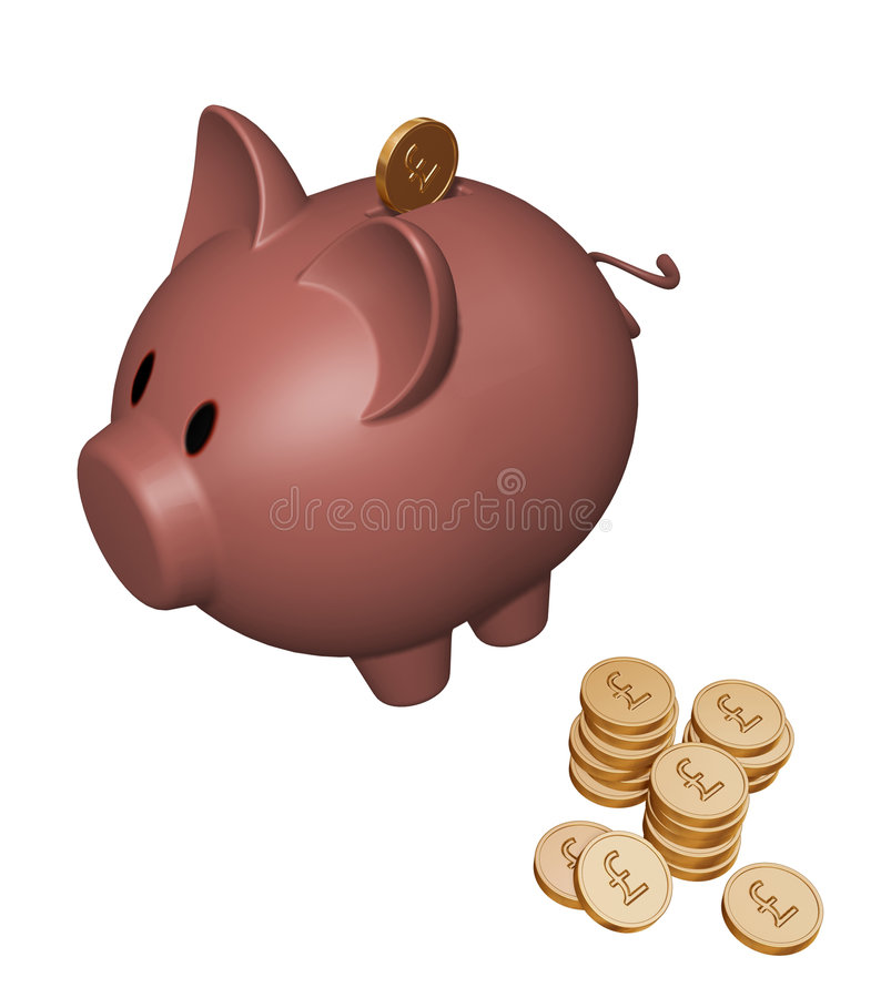Piggy bank with Pounds vector illustration