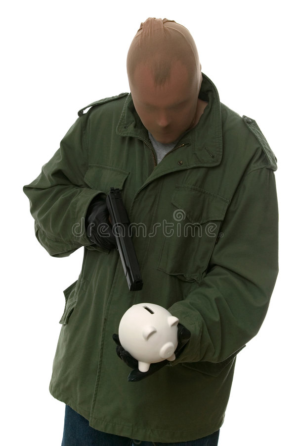 Download Piggy bank robbery. stock image. Image of army, concept - 3132279