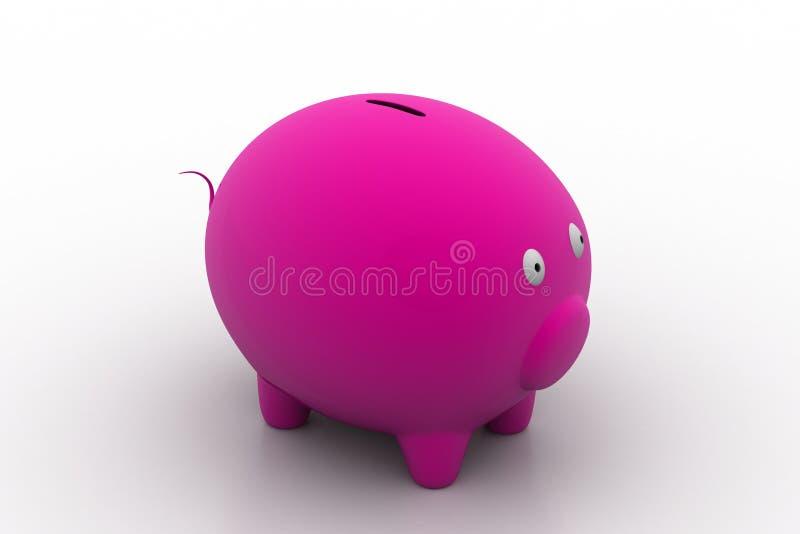 Piggy bank, savings concept. In white background stock illustration