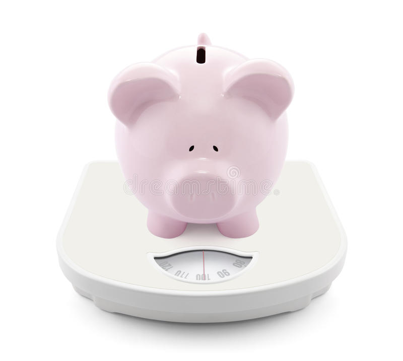 Download Piggy bank on scales stock image. Image of balance, business - 31596455
