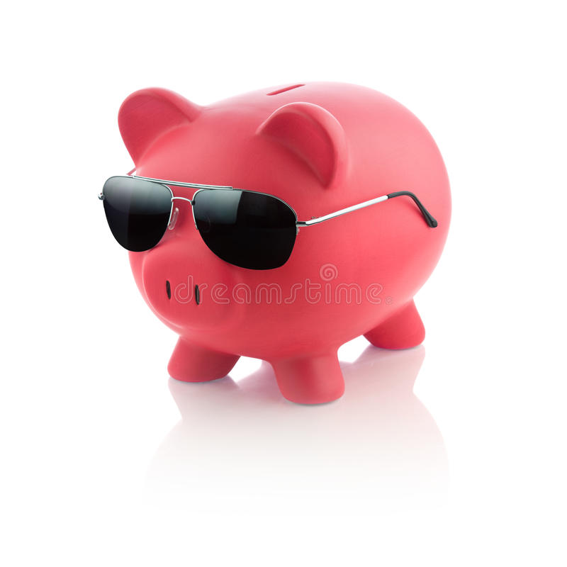 Piggy Bank Series. Isolated on white stock photos