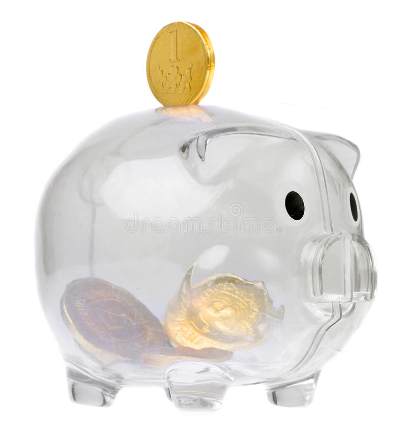 Download Piggy Bank Style Glass Moneybox Stock Photo - Image: 13962904