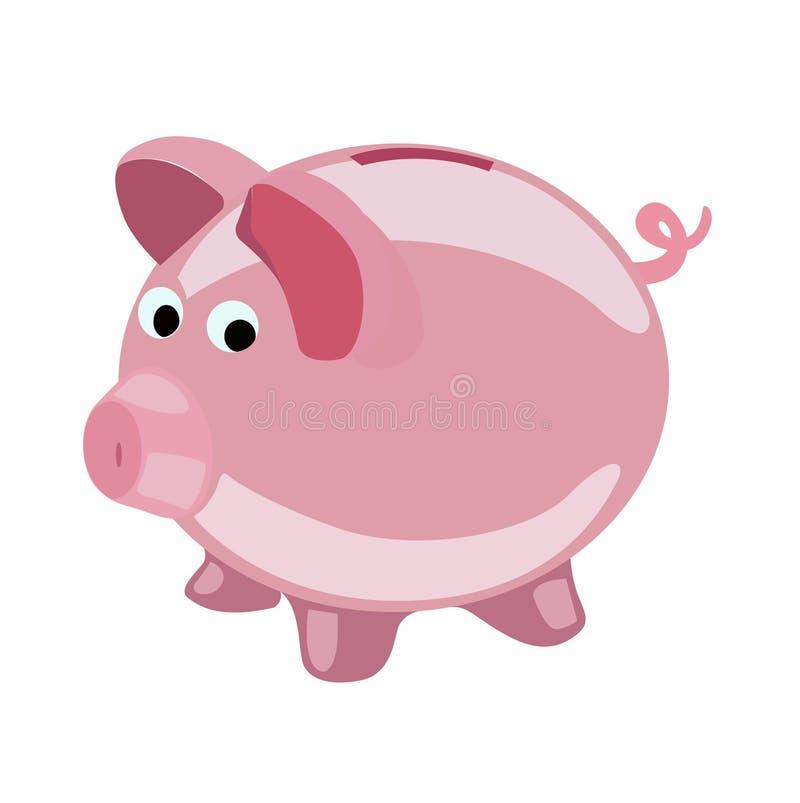 Piggy bank vector flat design icon vector illustration