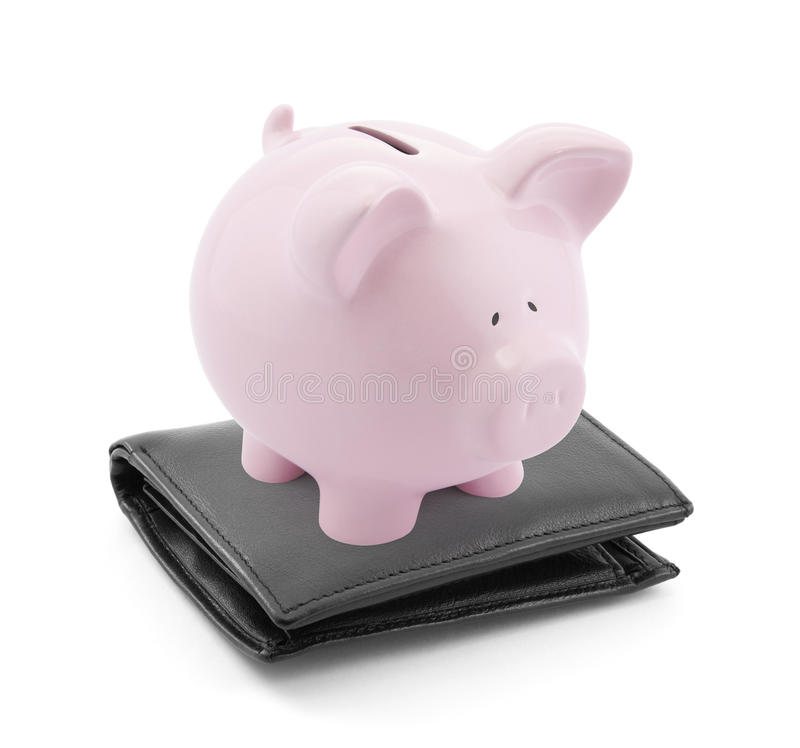 Piggy Bank With Wallet Royalty Free Stock Photo