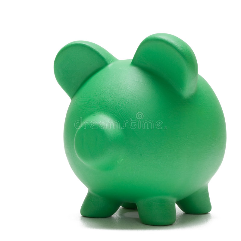Piggy Bank on White royalty free stock image