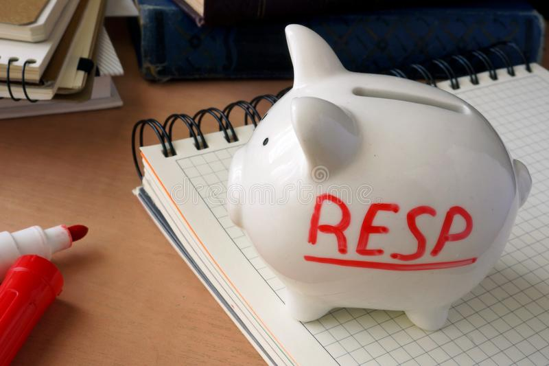 RESP. Registered Education Savings Plans. royalty free stock photo