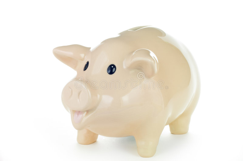 Piggy Bank With Work Path Royalty Free Stock Images