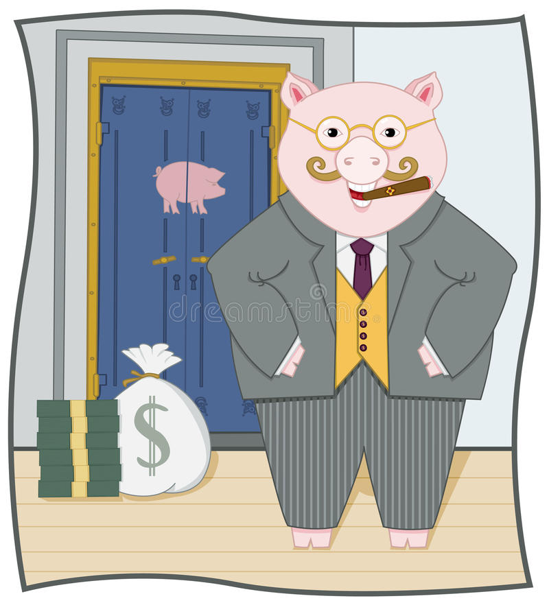 Piggy Banker stock illustration